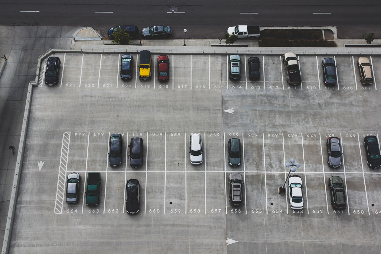 stock photo of parking lot